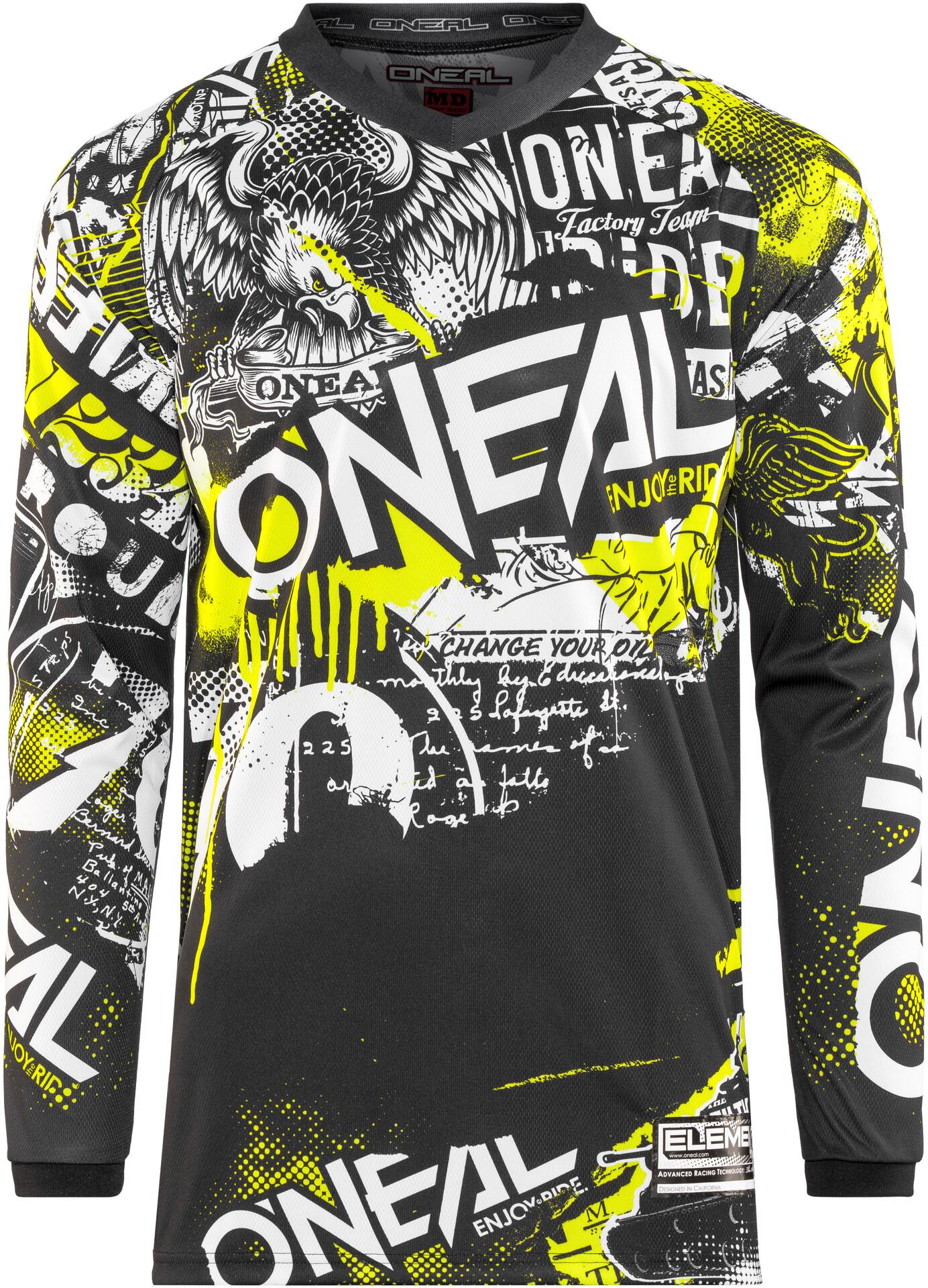 ONeal Element Maillot de Cyclisme Homme Attack Black//Hi-viz
